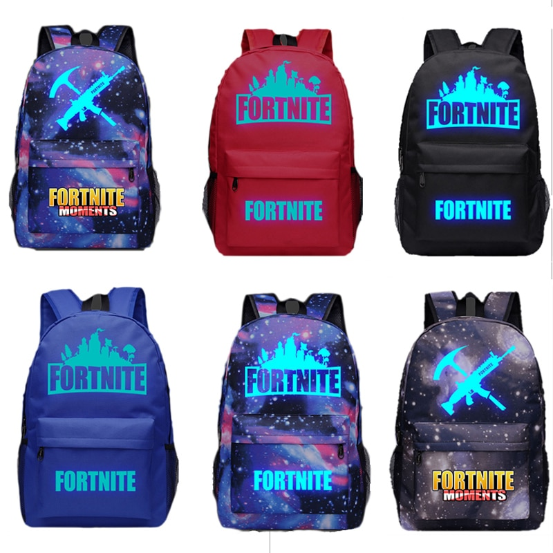 Mochila Unisex para hombre, mochila ligera luminosa Fortnites, mochila escolar para estudiante, mochila para libros Bettle Royale, mochila escolar con dibujos animados de Anime