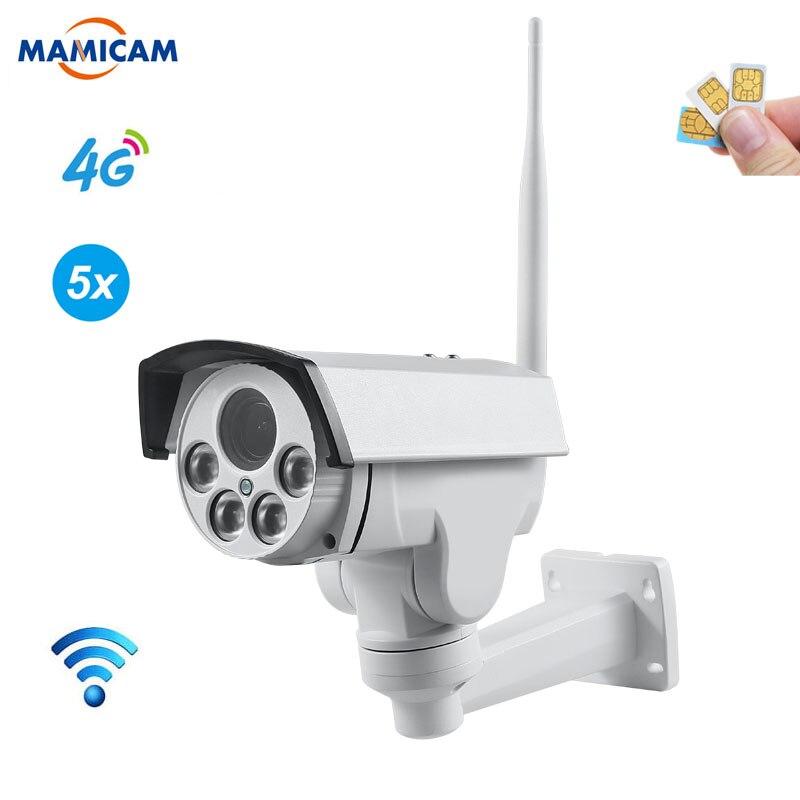 HD 1080P 3G 4G SIM Card Camera Wifi Outdoor PTZ Bullet Camera Wireless IR 50M 5X Zoom Auto Focus CCTV Wi-Fi IP Camera