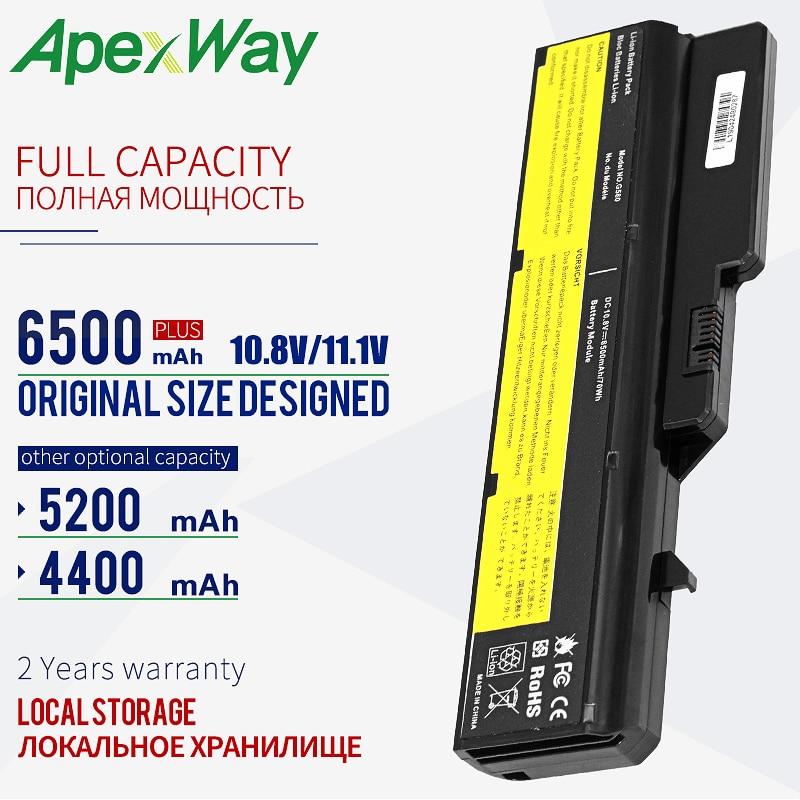 ApexWay 11,1 v batería para portátil Lenovo G570 G575 G770 Z460 G460 G465 G470 G475 G560 G565 L09M6Y02 L10M6F21 L09L6Y02 L09S6Y02
