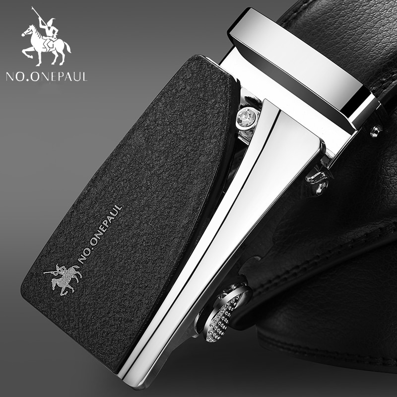 NO.ONEPAUL cowhide Leather Strap Designer Quality metal Belts Men High Luxury Jeans Waistband Men Belts Automatic buckle Belt no onepaul cowhide leather strap designer quality metal belts men high luxury jeans waistband men belts automatic buckle belt