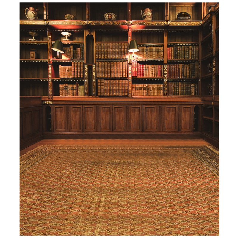 Retro Study Library Books Shelf Photography Photo Background Backdrop Prop 3X5FT