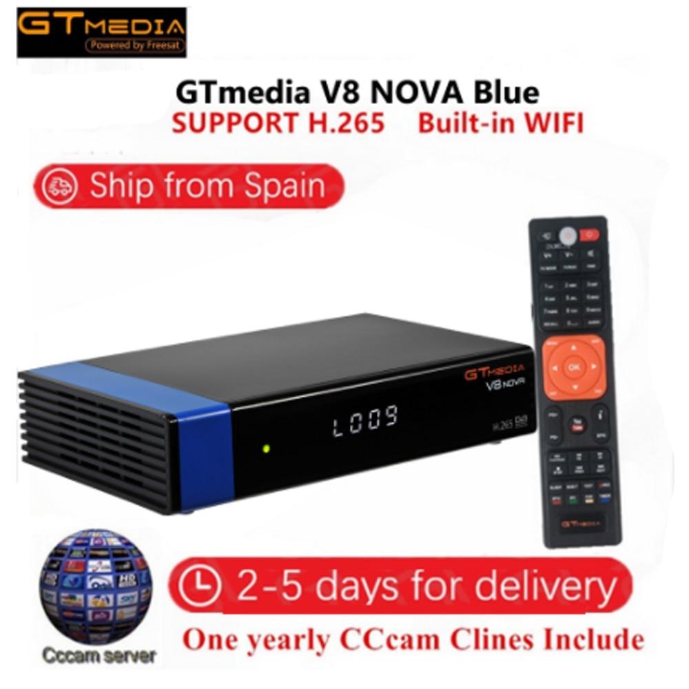 DVB-S2 freesat v8 super receptor gtmedia v8 nova decodificador DVB-S2 freesat europa cline para 2 ano espanha h.265 v8 receptor de honra