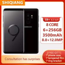 "Samsung Galaxy S9 + S9 Plus G965U G965U1 6 go de RAM 64 go ROM Octa Core 6.2 ""NFC Snapdragon 845 Smartphones avec empreinte digitale"