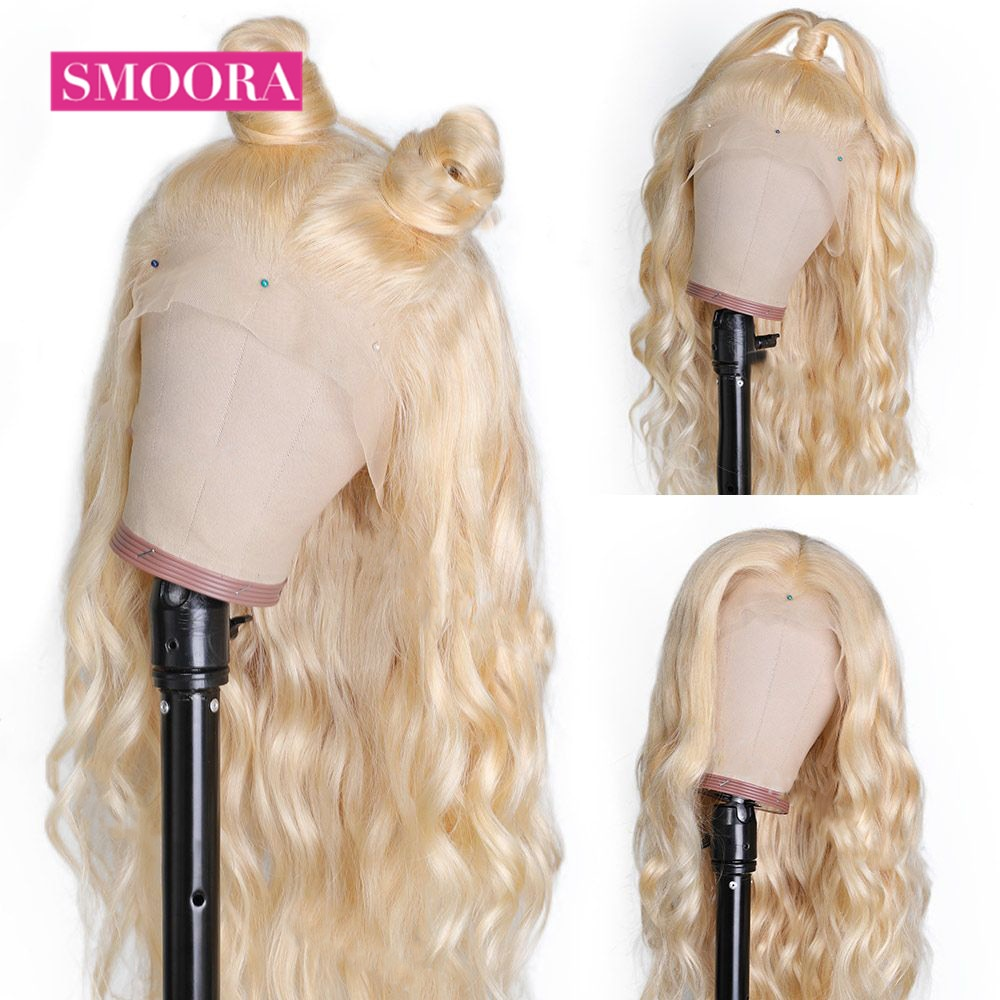 613 Lace Front Honey Blonde Wig Malaysian Body Wave Wigs For Women 150% Density Remy Human Hair Transparent Lace Front Wig 13x1