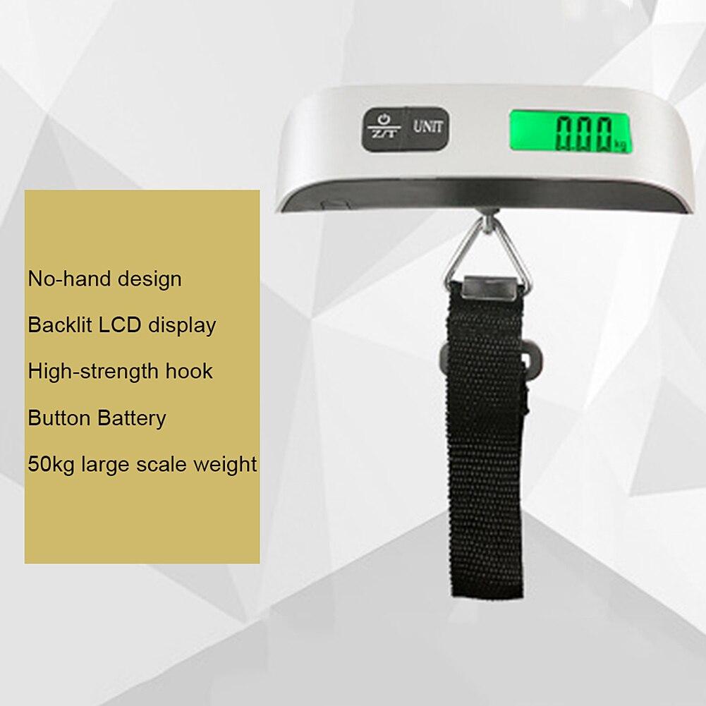 Чемодан масштаба 1 шт. Нержавеющаясталь багажная сумка ЖК-дисплей Дисплей 50 кг/110IB Портативный Ванная комната весы электронные Чемодан весит
