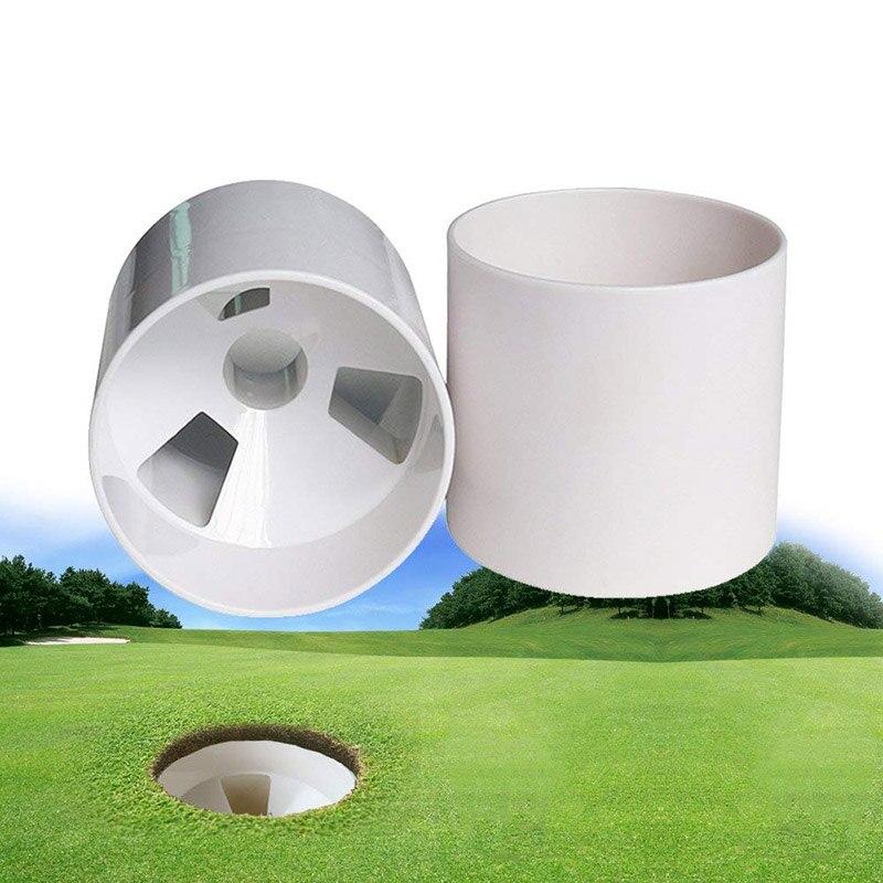 Белая пластиковая кружка с отверстиями для гольфа