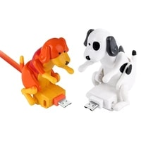 cute stray dog charging cable mobile phone power adapter type c charging wire