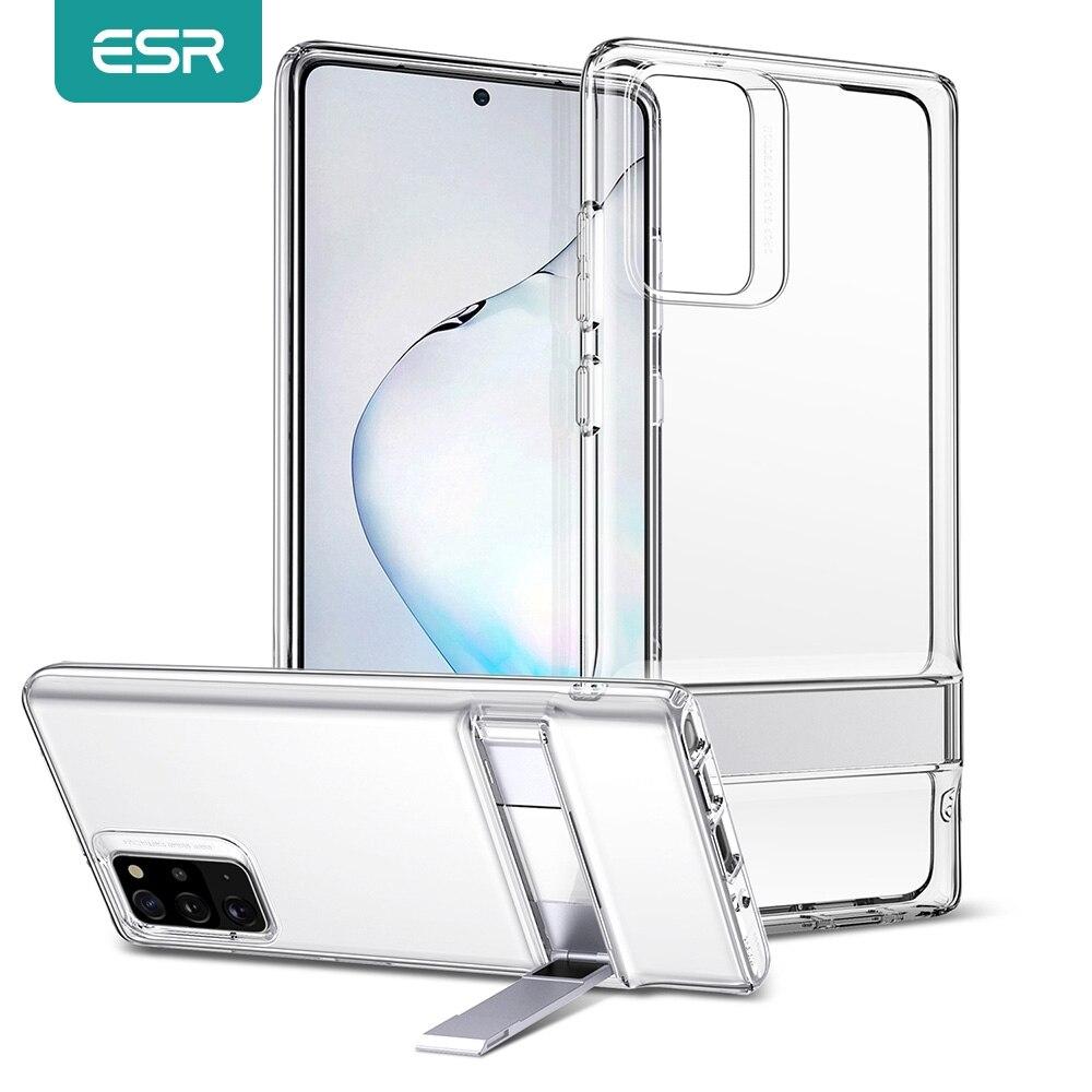 Etui ESR do Samsung Galaxy Note 20 Note 20 Ultra Note 10 5G metalowa podstawka do statywu TPU przezroczysta obudowa do S20 Plus S20 Ultra Funda