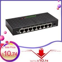 Conmutador Gigabit de 8 puertos, conmutador de red Ethernet, conmutador de red Vlan inteligente, Hub Lan, intercambio dúplex completo o medio