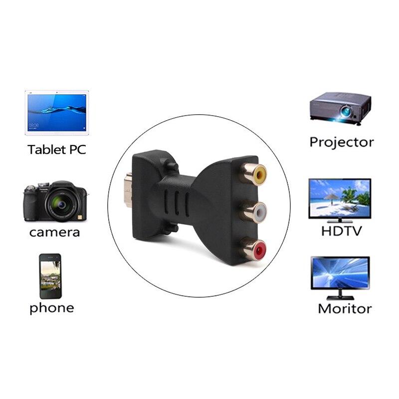 Позолоченный HDMI штекер 3 RGB RCA видео аудио адаптер AV компонентный конвертер для 720P 1080iP 1080P DVD проектор 1 штука