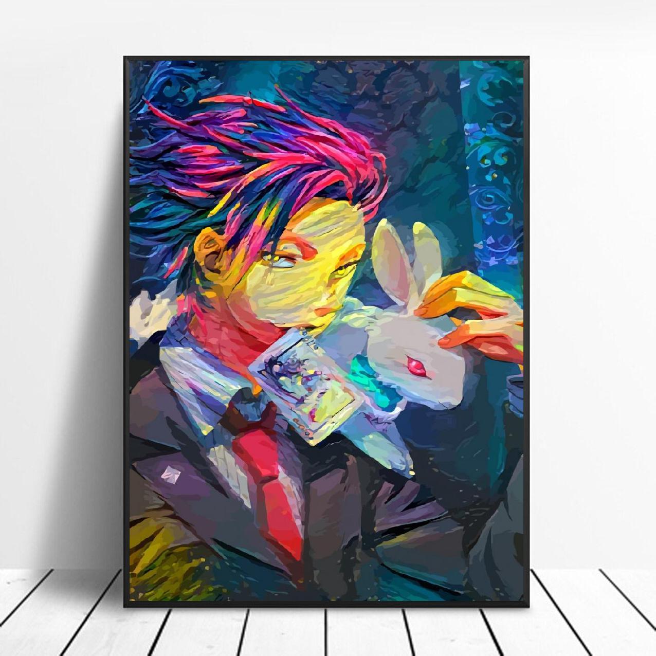 Affiche de toile daquarelle le magicien artistique   Toile de décoration de maison, peinture sans cadre