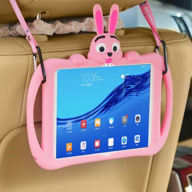 جراب كمبيوتر لوحي مطاطي للأطفال ، جراب سيليكون لهاتف Huawei MediaPad M5 10.8 8.4 بوصة ، واقي للجهاز اللوحي Huawei Media pad M5 Lite 10 10.1 8.0