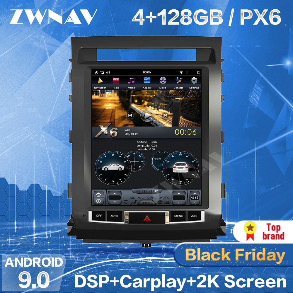 128GB Tesla Bildschirm Für TOYOTA LAND CRUISER LC200 2008-2015 Android 9 Auto Multimedia-Player GPS Audio Radio auto Stereo Kopf Einheit