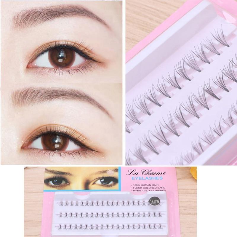 1 Box selling 8-14mm eyelashes single tufts hairy chicken claw soft natural self-grafting lashes planting eyelashes