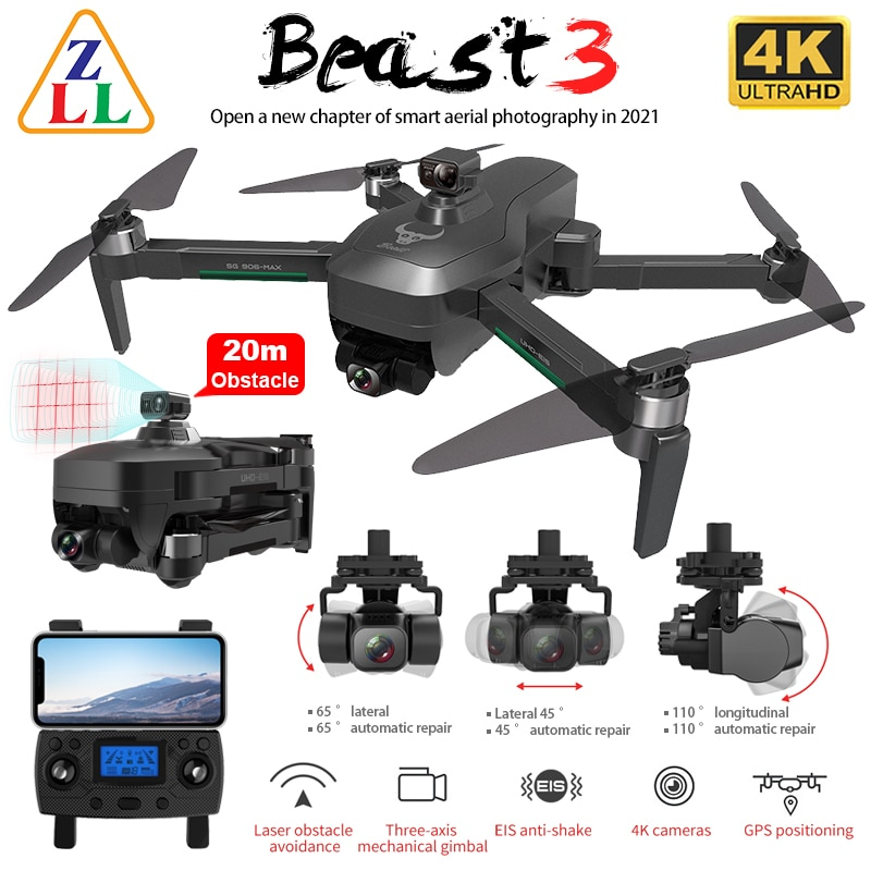 ZLL SG906 MAX PRO 2 PRO2 GPS Drone 4K HD Camera Laser Obstacle Avoidance 3-Axis Gimbal WiFi FPV Professional RC Quadcopter