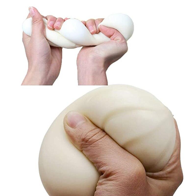 1PC Squishy Bun Steamed Stuffed Bun Simulation Fidget Sensory Unzip Stress Reliever Bun Soft TPR BAOZI Slow Rising Decompression enlarge