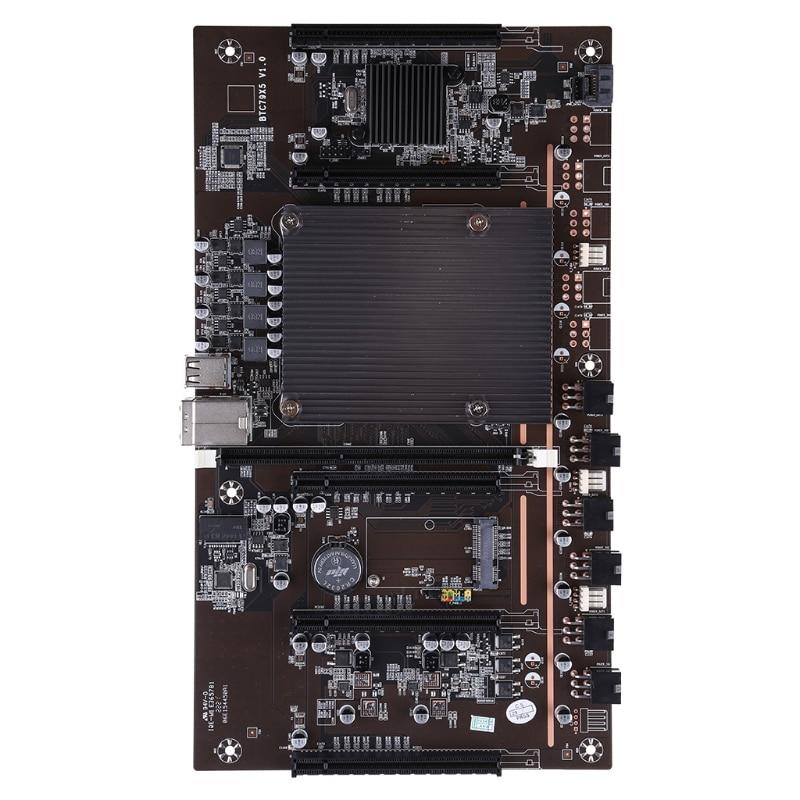 C1FB BTC X79-H61 مينر اللوحة ل CPU مجموعة 5 فتحة للبطاقات ل DDR3 الذاكرة المتكاملة VGA واجهة 60 مللي متر المسافة منخفضة الطاقة