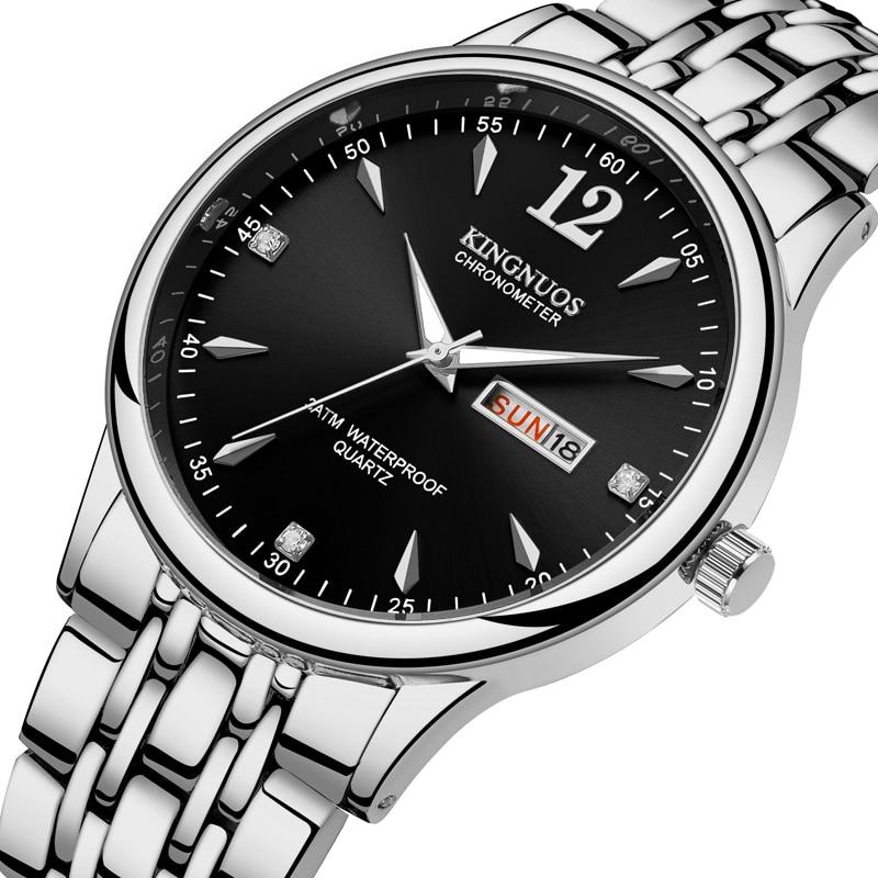 2020  KINGNUOS Luxury Mens Watch 30m Waterproof Date Clock Male Sports Watches Men Quartz Wrist Relogio Masculino