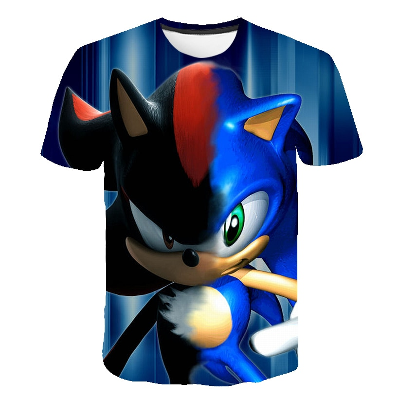 Kids T-shirts Boys Sonic the hedgehog short Sleeve Tops Girls summer Winter cartoon t shirt 14 Years Children T Shirts Clothing