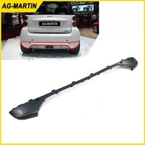 PP plastic auto rear bumper lip cover car rear boot bumper upper lip for Smart Fortwo 2009-2015