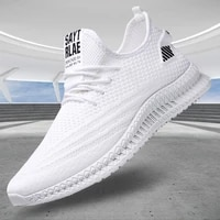 spring new men shoes sneakers white fashion flat casual shoes for men mesh breathable walking shoes sneaker wholesale tenis
