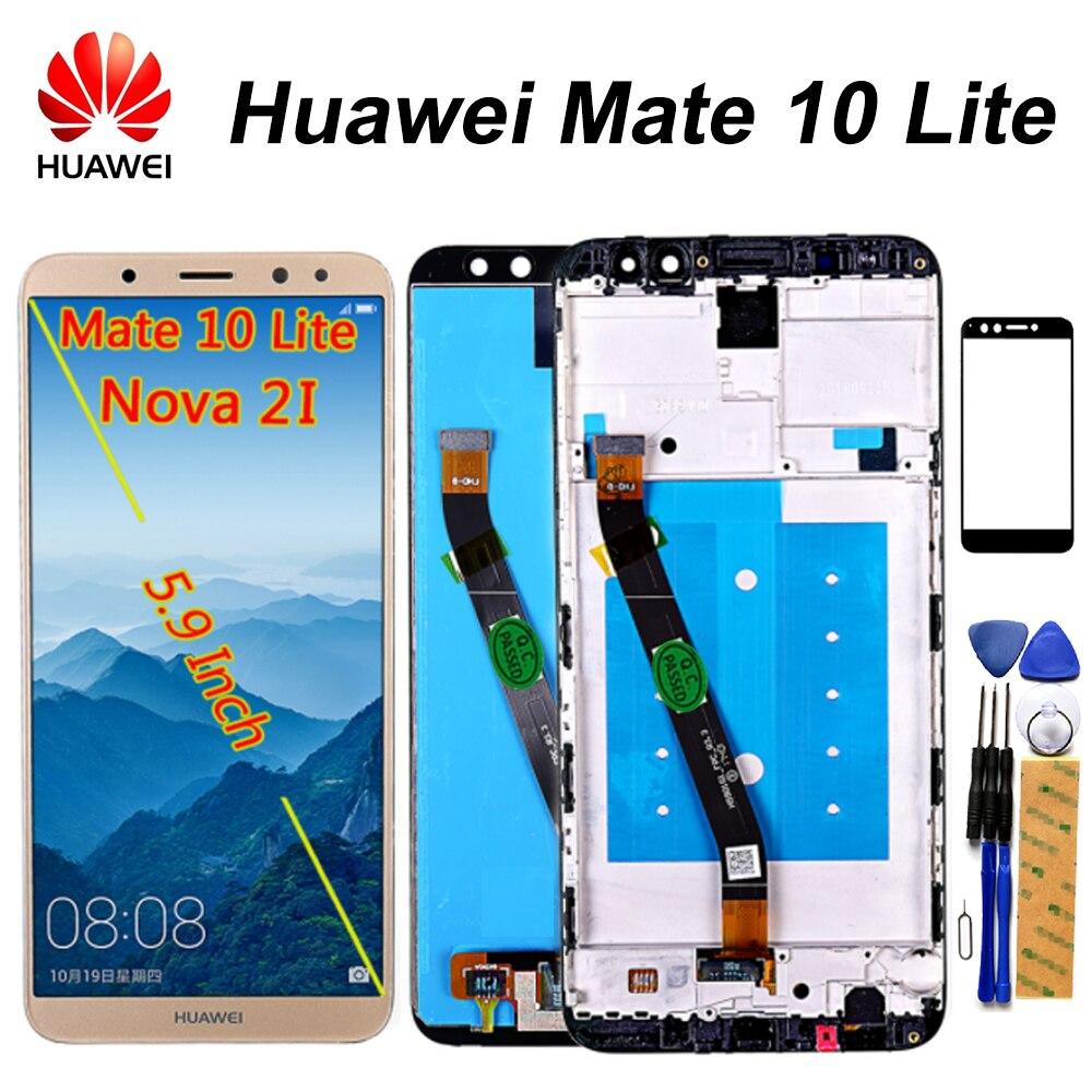 Pantalla LCD Huawei Mate 10 Lite Nova 2i 5,9 pulgadas pantalla táctil diziter montaje marco Huawei G10/G10 Plus LCD