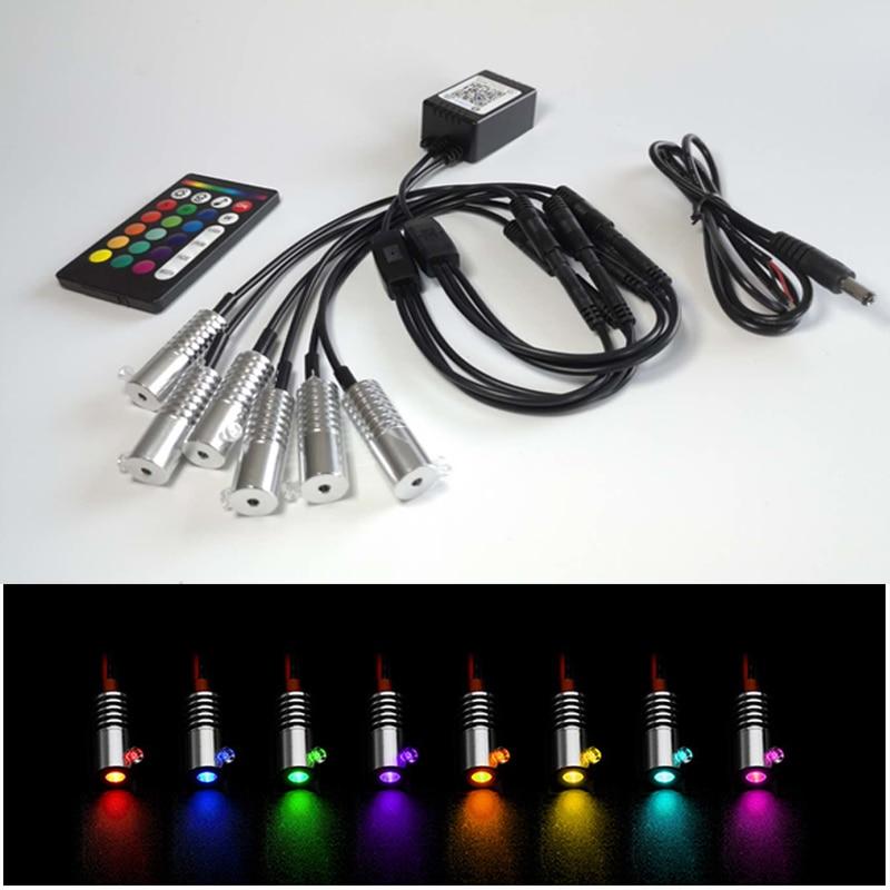 frete gratis app controle ir 12v 3w multi cor rgb fibra optica led motor de luz com
