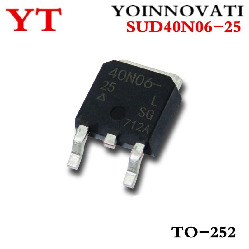 100pcs/lots SUD40N06-25 40N06-25 40N06 ZU-252