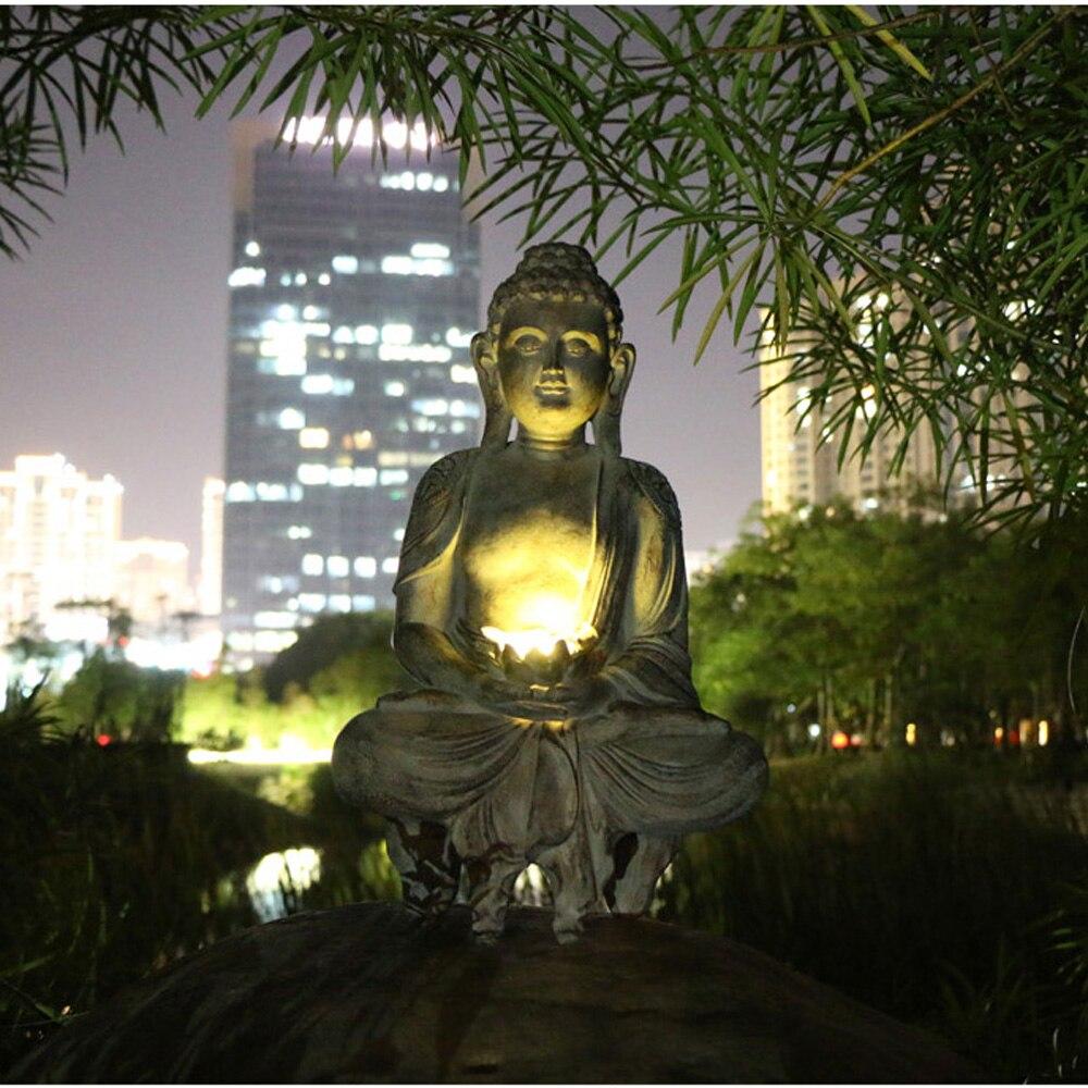 Estatua de Buda meditante para exteriores, escultura de estatua de Buda Zen,...