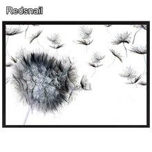 5D bricolage diamant broderie pissenlit fleurs diamant peinture point de croix noir et blanc art 3D diamant mosaïque icônes TT132