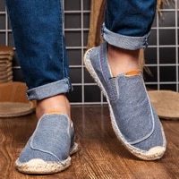 size 45 linen casual shoes loafers mens flats weaving fisherman shoes boy handmade flat espadrilles male driving shoes footwear