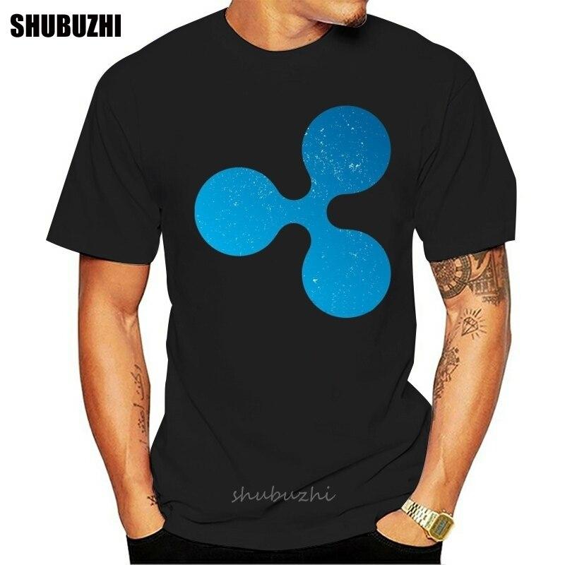 Teehub Vintage Ripple XRP Cryptocurrency Logo Camiseta de algodón hombres verano moda camiseta tamaño euro