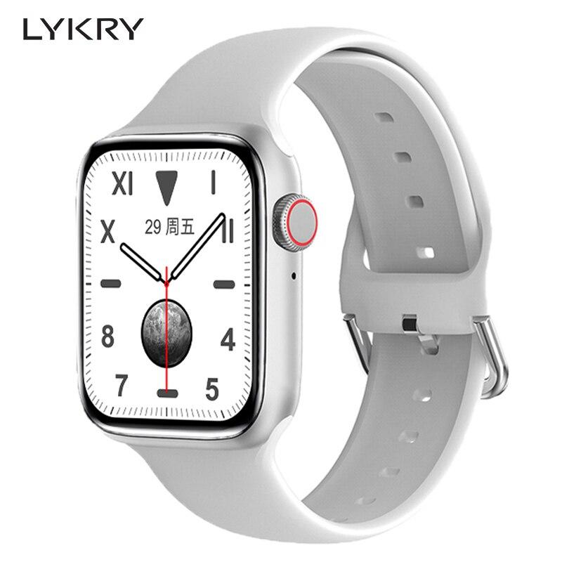 Смарт-часы LYKRY DT100 PRO Plus мужские Беспроводные с зарядным устройством и большой батареей 280 мАч