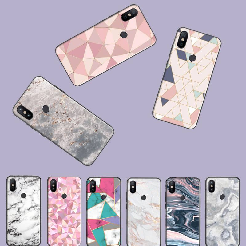 Patrón rosa de mármol funda de teléfono para Xiaomi Mi A1 A2 5 6 6PLUS 8 9 SE Lite mezclar 2 2S MAX 2 3 teléfono móvil F1