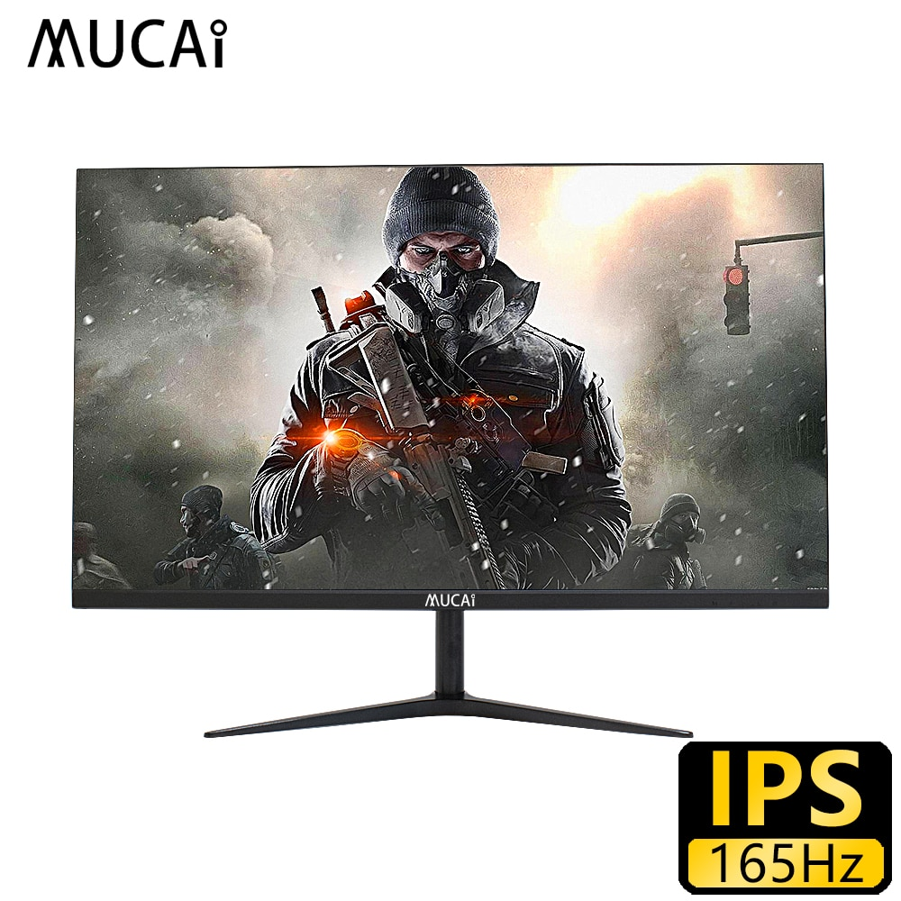 MUCAI 24 بوصة شاشة كمبيوتر شخصي 144 هرتز ips شاشة الكريستال السائل 165 هرتز HD ألعاب الألعاب كمبيوتر مكتبي شاشة مسطحة HDMI/DP