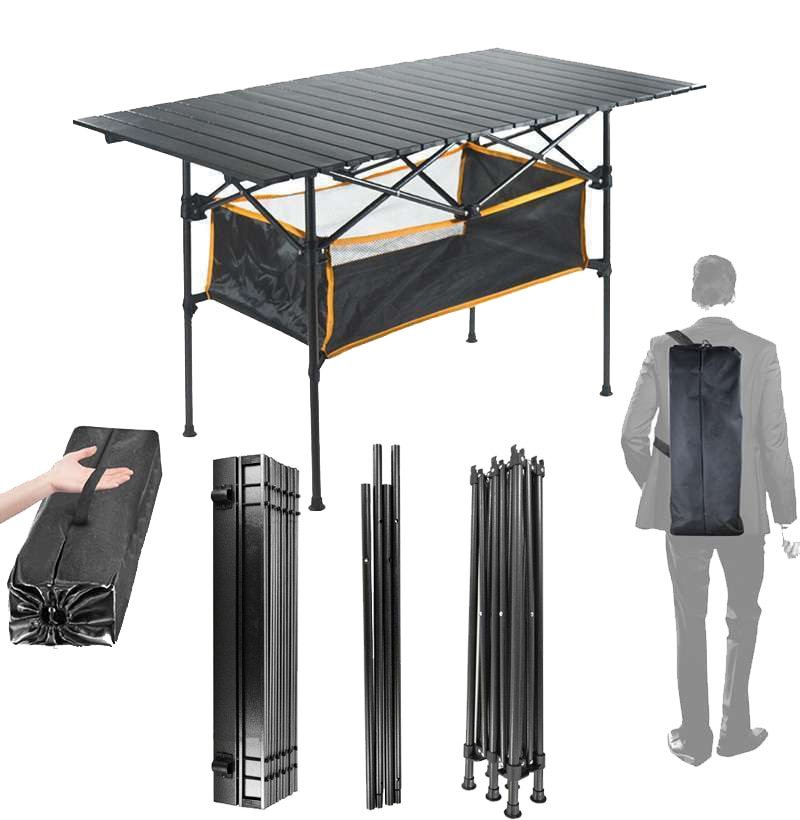 Outdoor Folding Table Aluminium Alloy Camping Travel Hiking Table BBQ Picnic Party Desk Garden Foldi