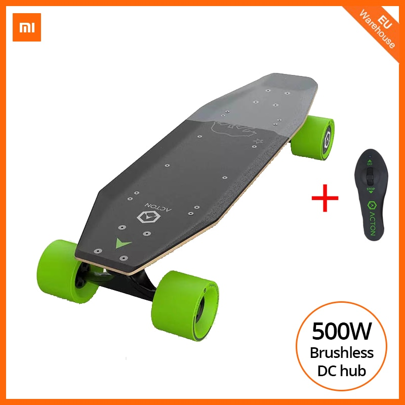 [Европейский запас] Xiaomi ACTON Электрический скейтборд умный беспроводной пульт дистанционного управления 36В 500 Вт e-скутер всенаправленная светодиодная Группа света