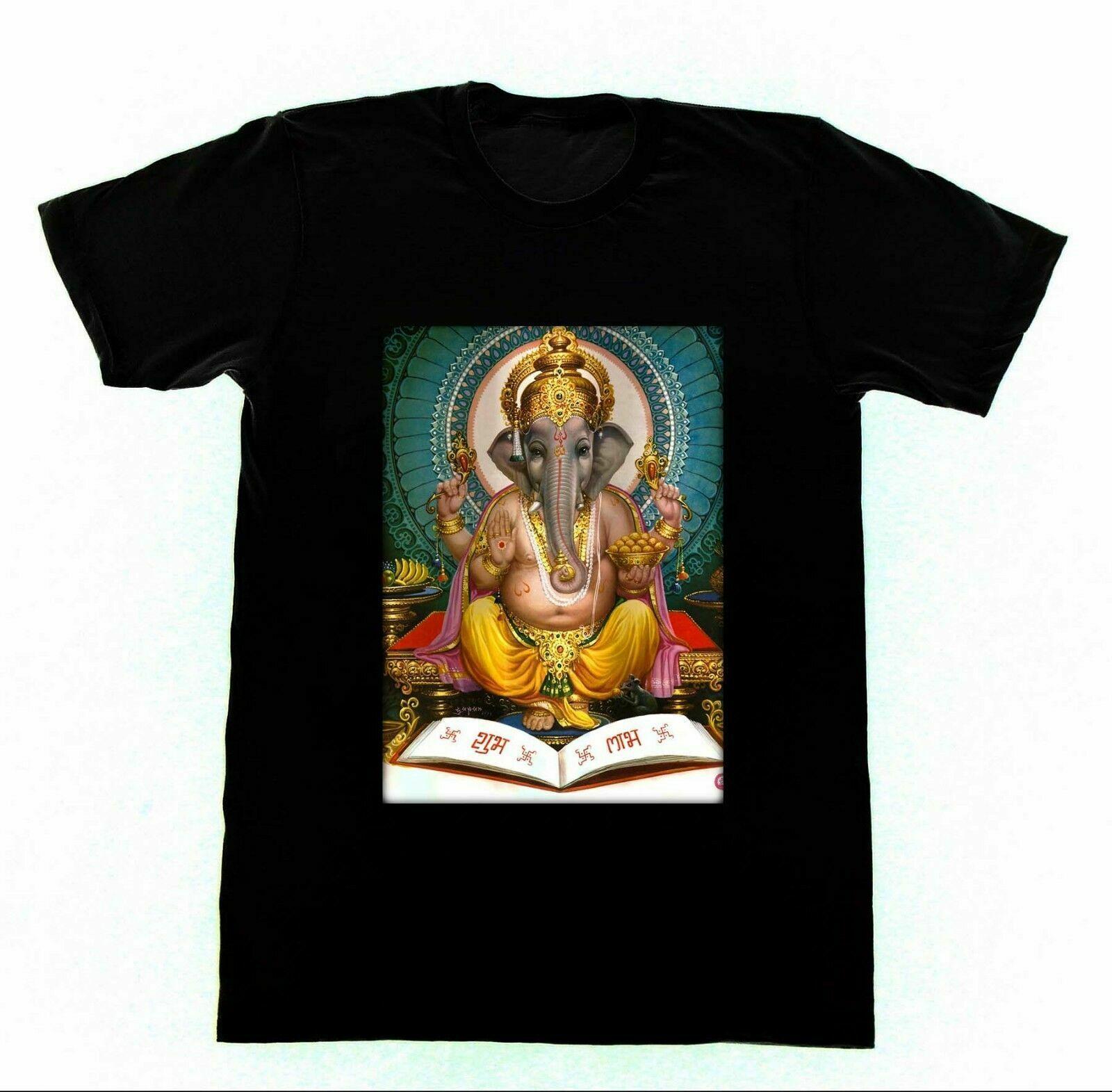 Camiseta Ganesh 50 Kali Shiva Krishna Yoga de hinduismo Go Vintage hombres camiseta de regalo