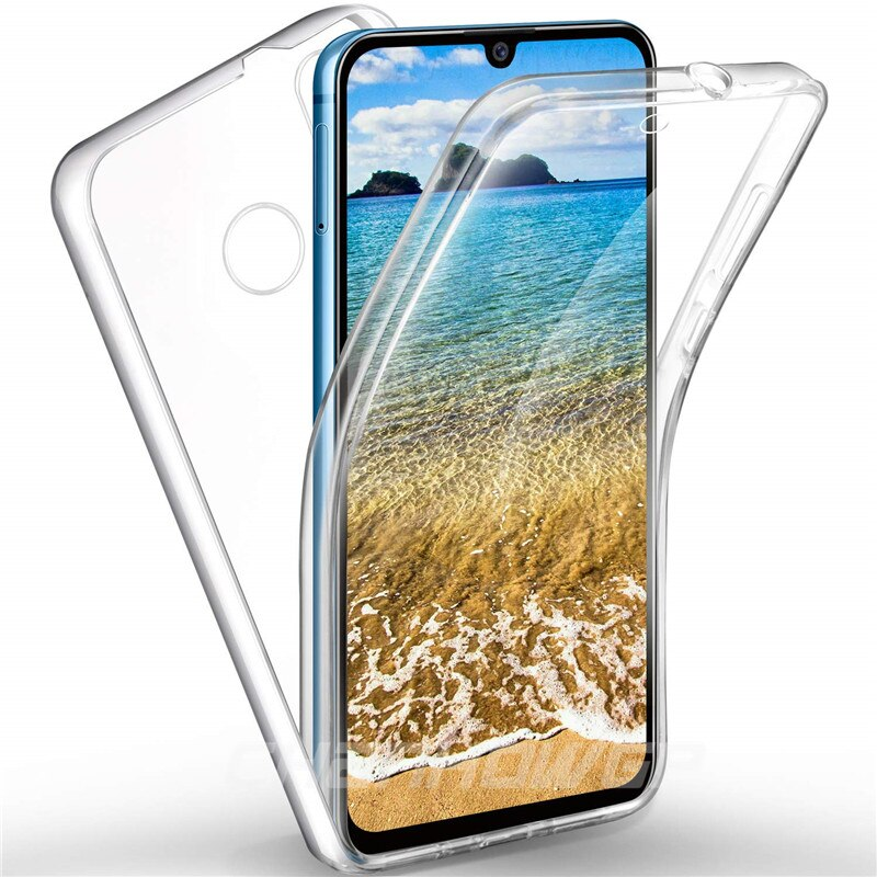 Funda de silicona táctil de doble capa para Huawei P Smart Z Plus Y5 Y9 Prime P20 Lite 2019 Honor 20 Pro 8S 10i Nova 4e 5i de la cubierta completa