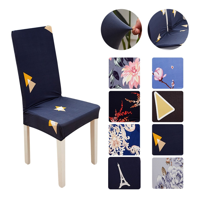 Modern High Back Chair Cover Spandex Elastic Chair Cover Stretch Party Cover for Chair for Kitchen Covers for Armchairs for Home