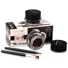 Music Flower Long Lasting Eyeliner Gel Waterproof Eye Liner with 2 Brush for Makeup Cosmetics Set Ge