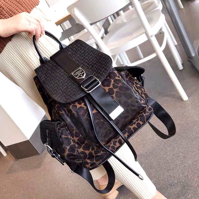 Leopard Animal Prints Women Backpack Mini Designer Mochila Cute Ita Bag School Travel Bolsa Feminina