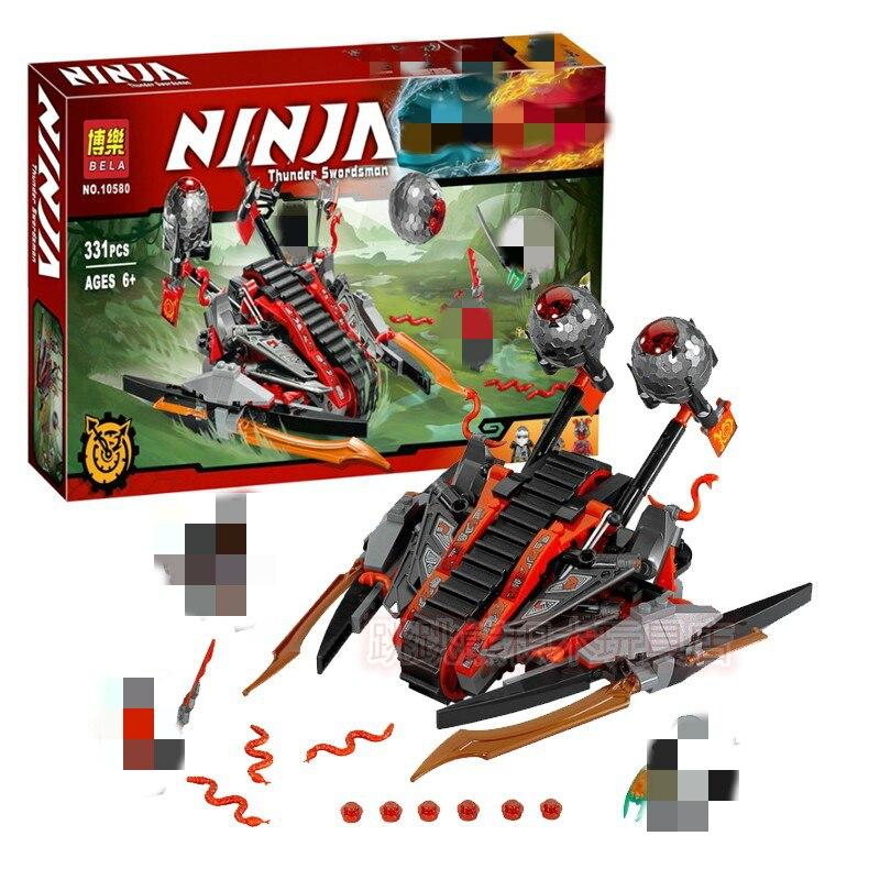 New 331pcs Ninja Vermillion Invader Vehicle Catapult Model Building Blocks 70624 Ninjagoes Kids Toy Bricks