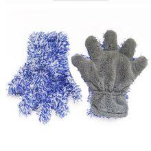 Gant de lavage de voiture à cinq doigts Double face Premium gant de nettoyage en peluche