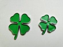Badge de trèfle ABS vert chromé 20X   Autocollant demblème de style de voiture, pour Alfa Romeo quatre feuilles trèfle, symbole porte-bonheur amour