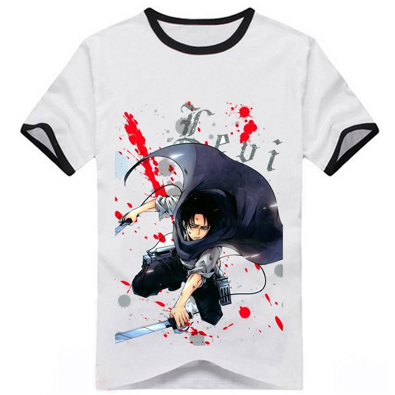 Attack on Titan Anime Shingeki no Kyojin eren Levi·Ackerman Japanese Men Women T-shirt hero cosplay tshirt