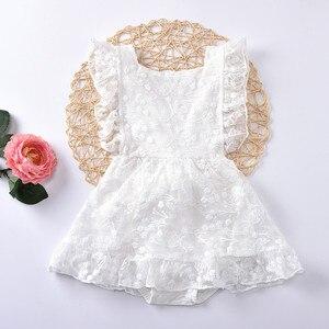 Birthday Dress For 1 Year Baby Girl Summer Clothes White 1st Birthday Dress For Baby Girl Bodysuit Dresses Baby Baptism Dress
