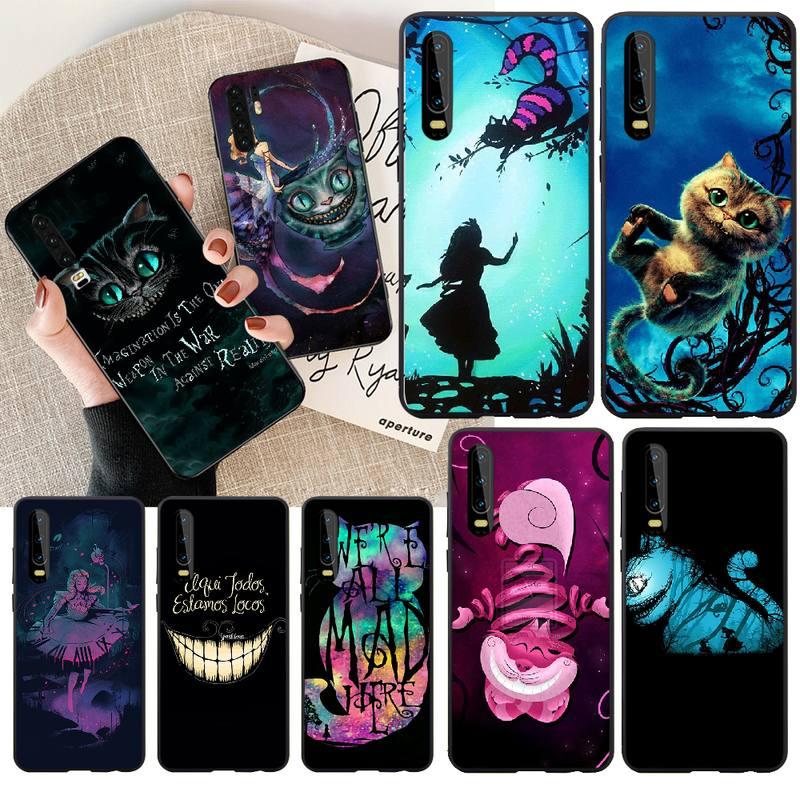 PENGHUWAN Alice in Wonderland Cheshire Cat Custom Photo Soft Phone Case for Huawei Honor 20 10 9 8 8x 8c 9x 7c 7a  Lite view