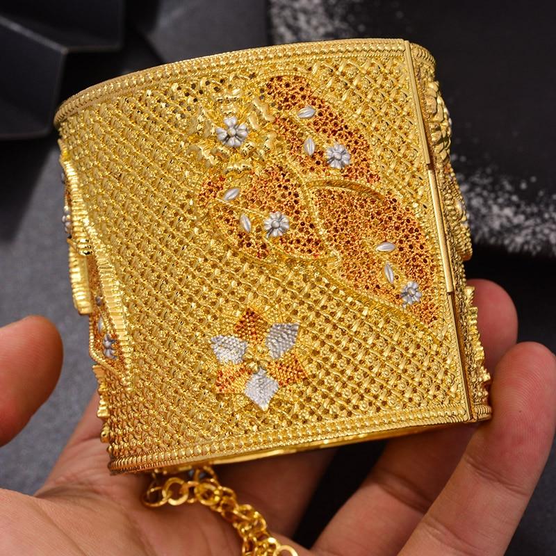 Wando luxurio الهندي دبي الكبير الذهب اللون الزفاف أساور للنساء الأفريقي/دبي/العربية سوار مجوهرات الزفاف هدايا