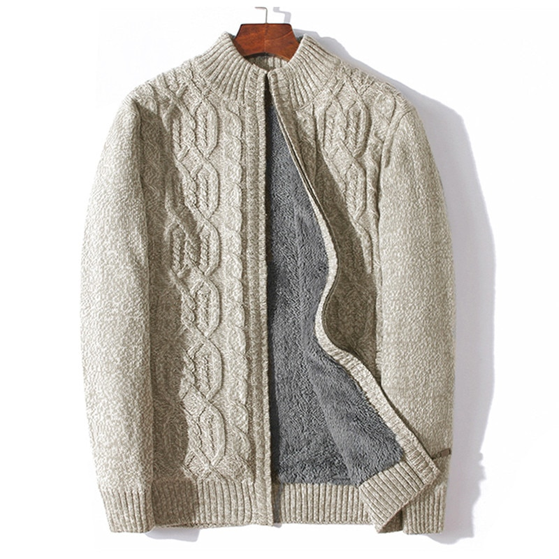ICPANS Plus Size 4XL 5XL 6XL 7XL Sweater Men Thicken Warm Wool Cashmere Winter Cardigan Turtleneck Male 2019 Outwear